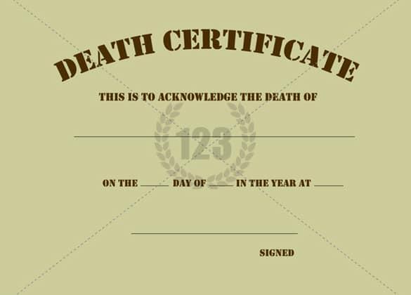 death certificaet template 564
