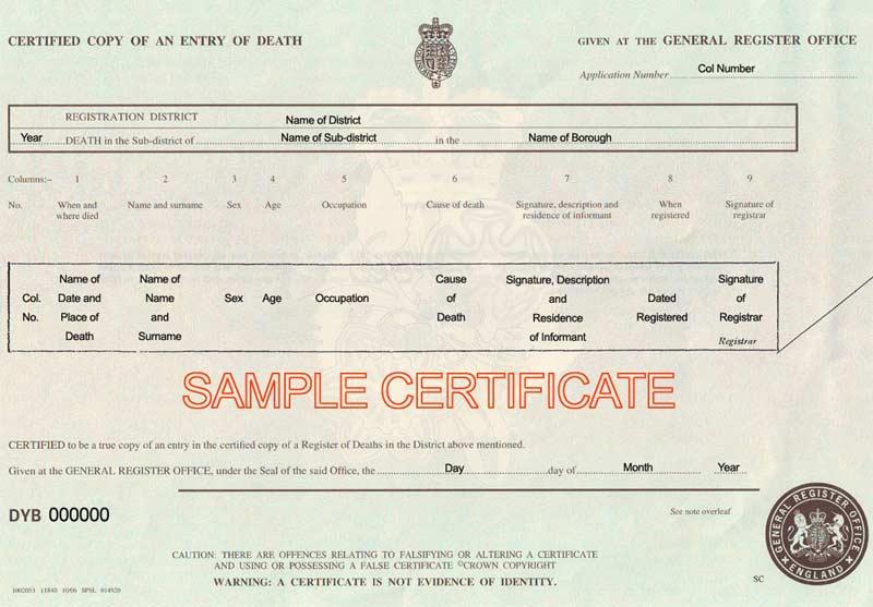 death certificaet template 641