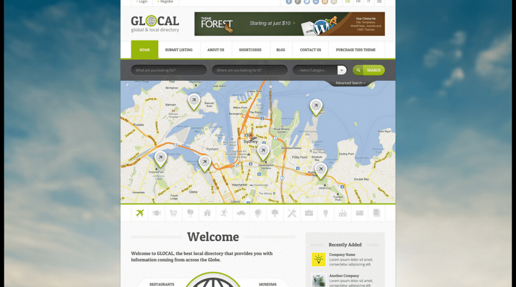 directory html template 4