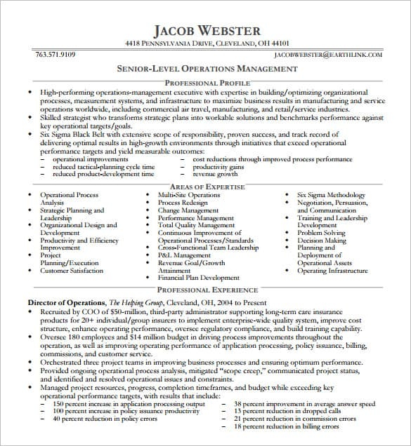 executive resume template word 154