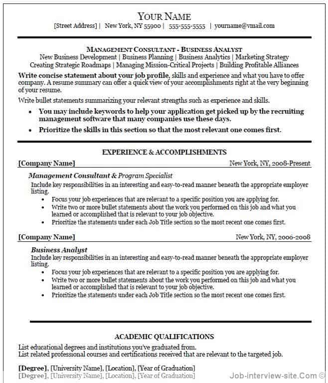 executive resume template word 64