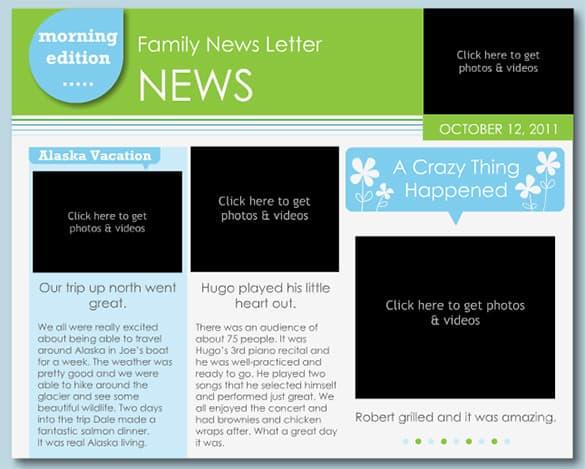 family newsletter template 111