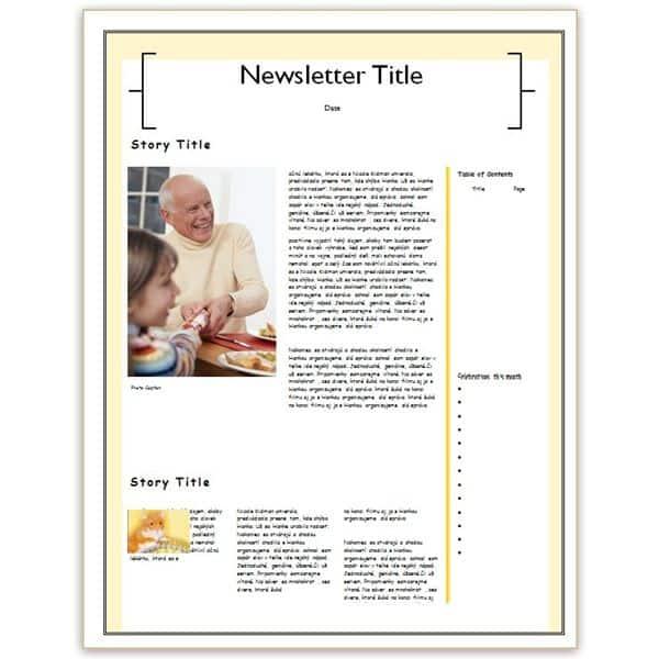 family newsletter template 6946