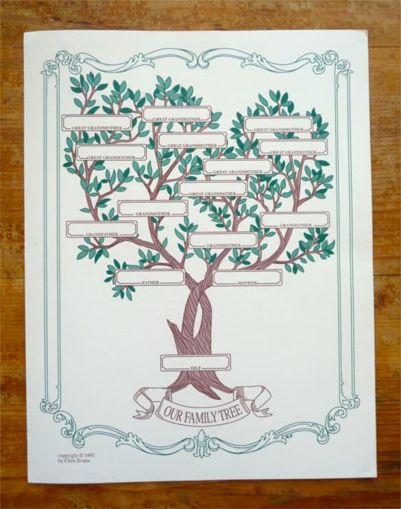 family tree template word  222