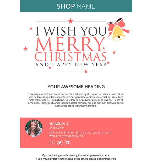 happy new year email template 5974