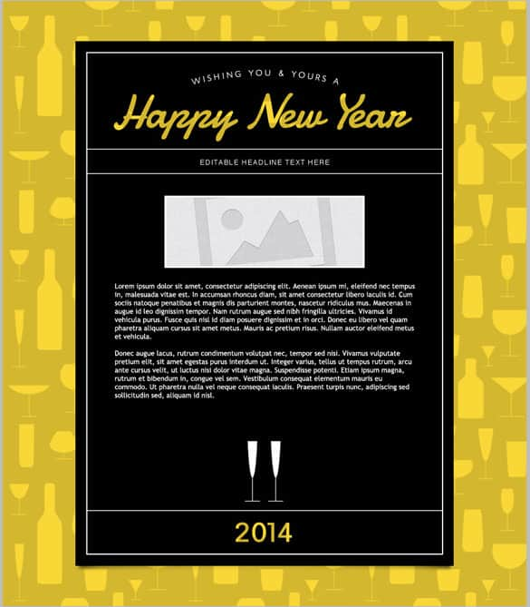 happy new year email template 8964