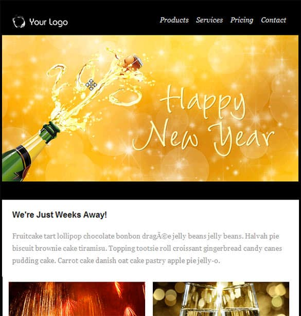 happy new year email template 9461