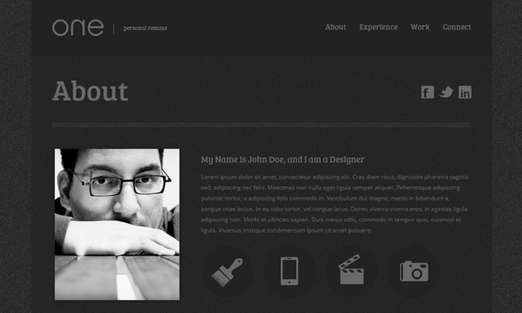 html resume template 346