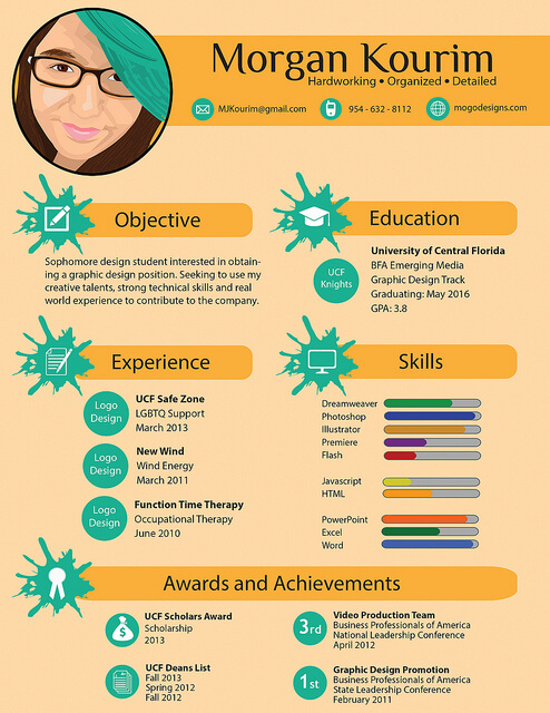 6 infographic cv templates website wordpress blog