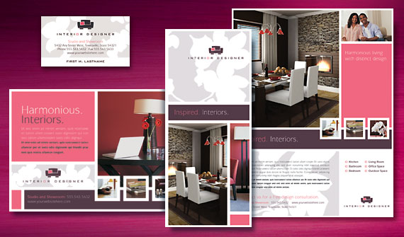 6 interior design brochures website wordpress blog for Interior design layout templates free