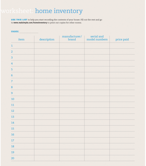 inventory list 2