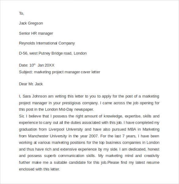 marketing letter sample 41