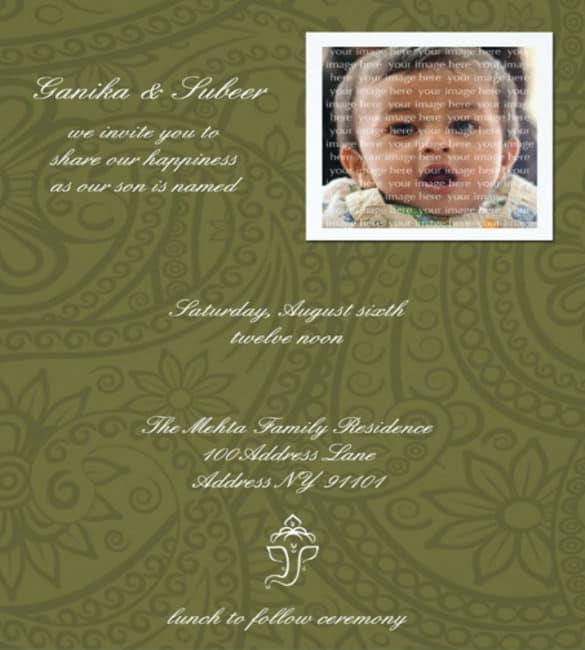 naming ceremony invitation 364