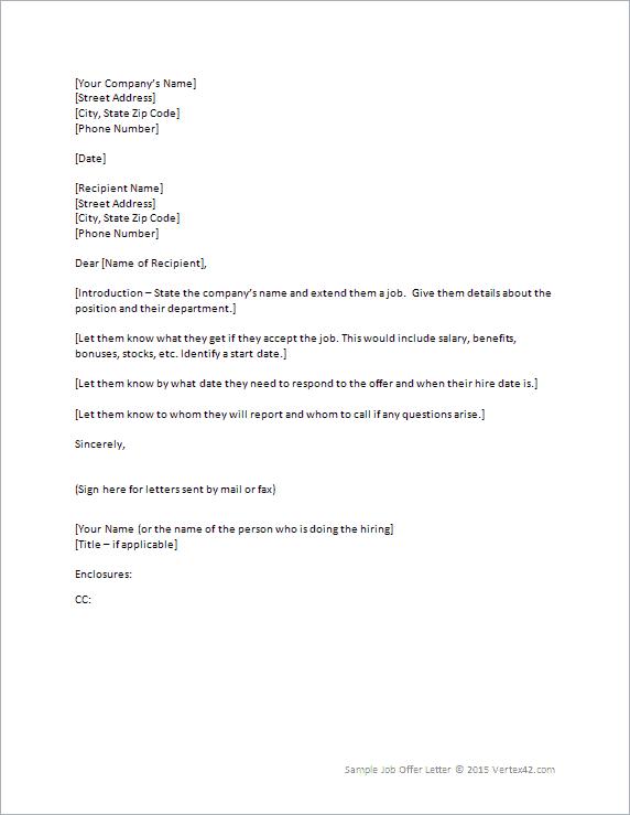 offewr letter 330