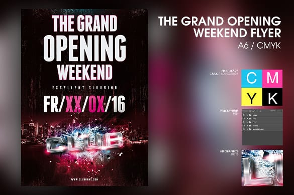 opening flyer 110