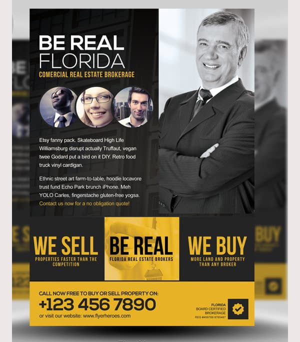 real estate flyer template 330
