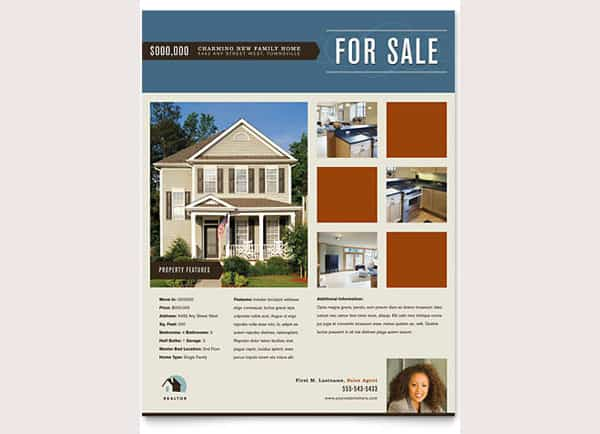 real estate flyer template 770
