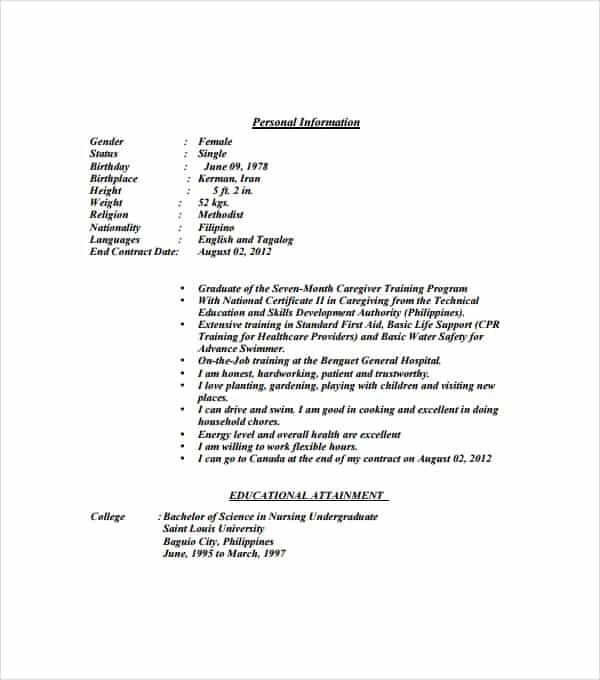 resume format 990