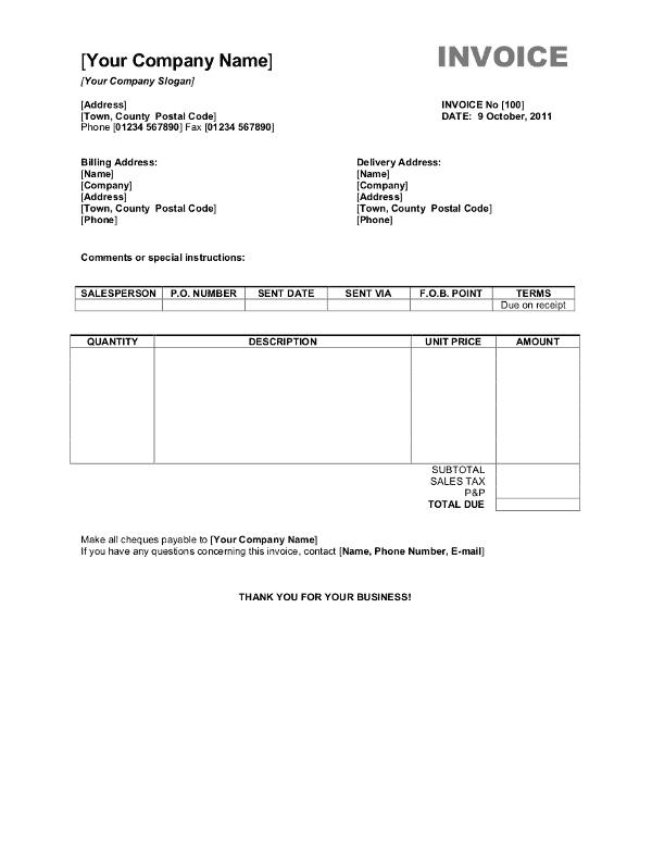 retail invoice format 220