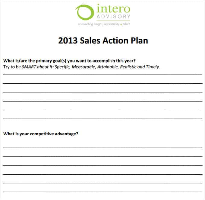 sales plan template 16