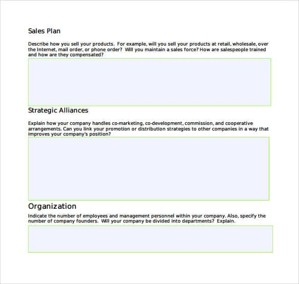 sales plan template 341