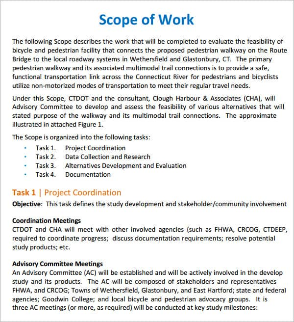 scope of work template 550