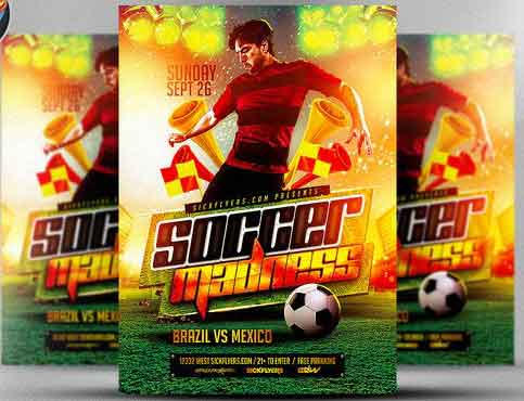 soccer flyer template 110