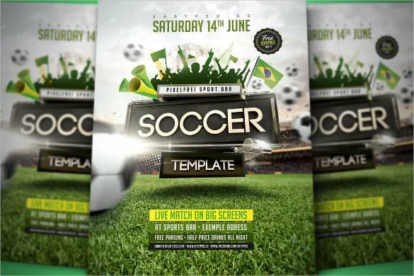soccer flyer template 660