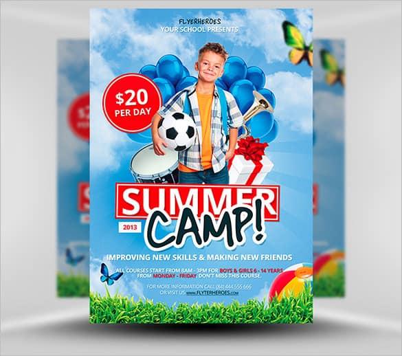 summer camp flyer template 330