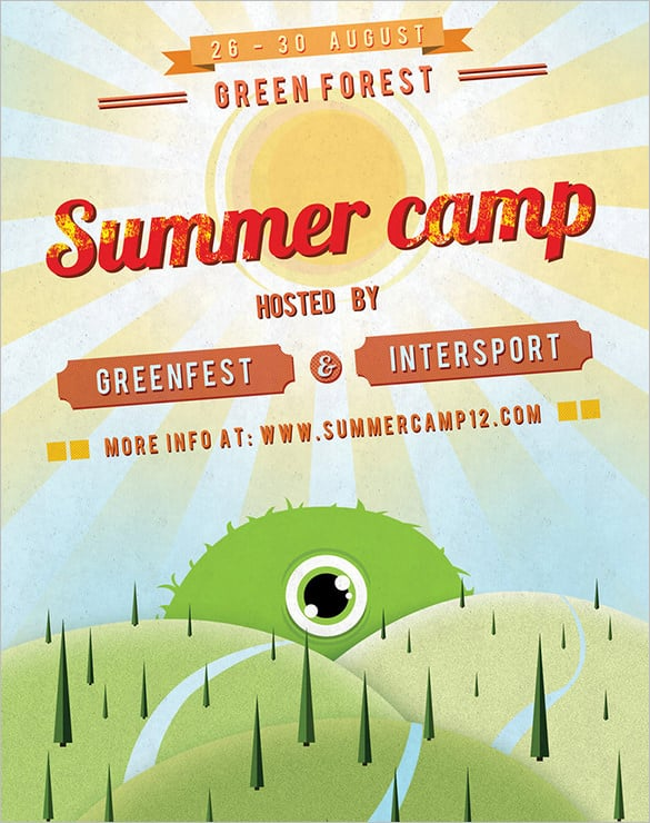Summer Camp Flyer Templates  Website Wordpress Blog