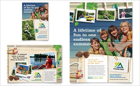 summer camp flyer template 880