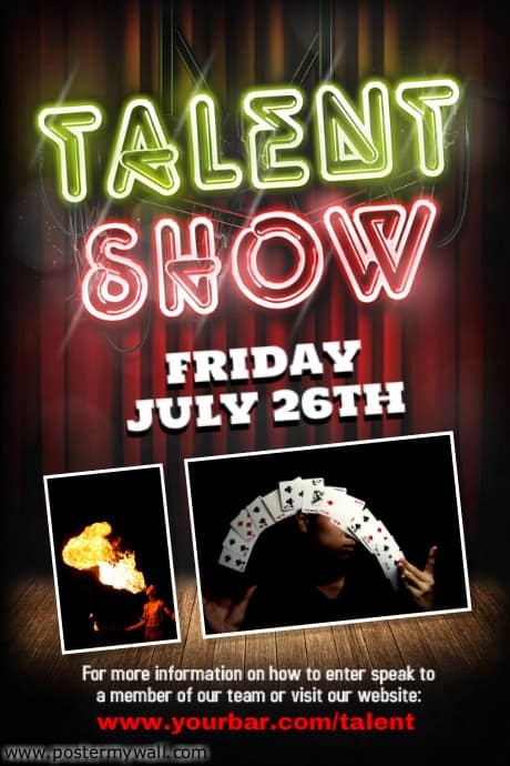 talent show poster 461