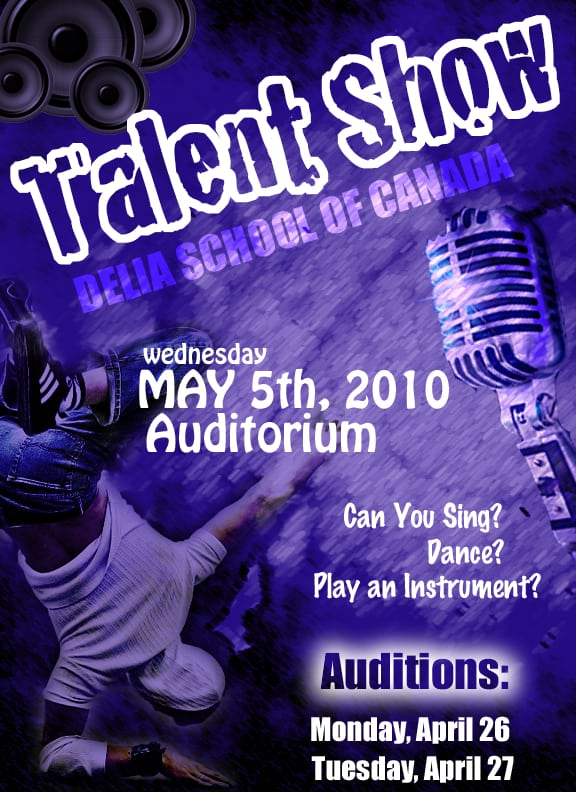 talent show poster 5964