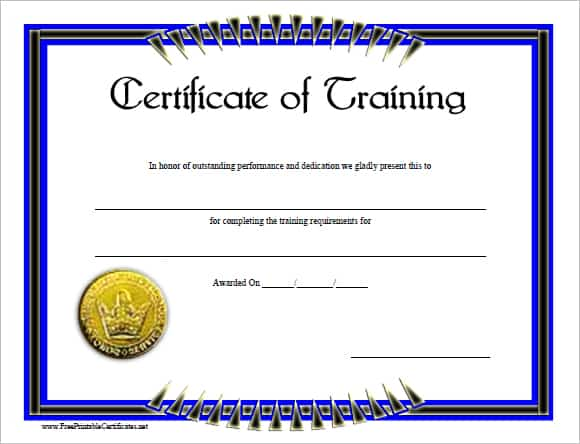 training certificate template 154