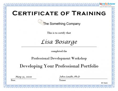 training certificate template 346