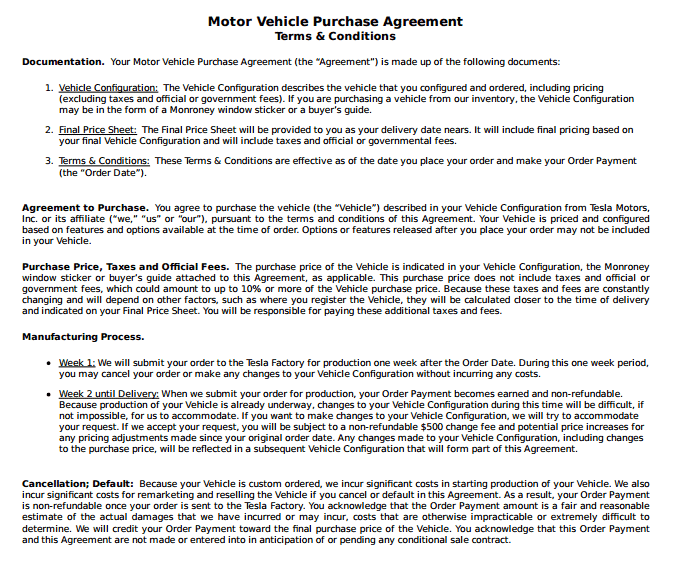 vehicle purchase agreement template 1651