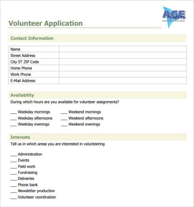 6 Volunteer Application Templates Website Wordpress Blog