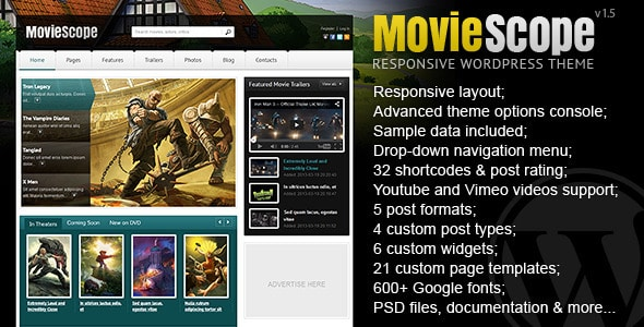 Cinema WordPress Themes 82