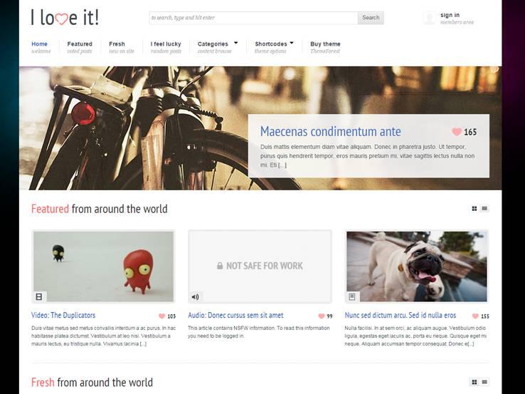 Content Sharing WordPress Themes 22