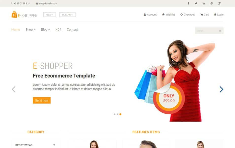 Ecommerce HTML5 Templates 62