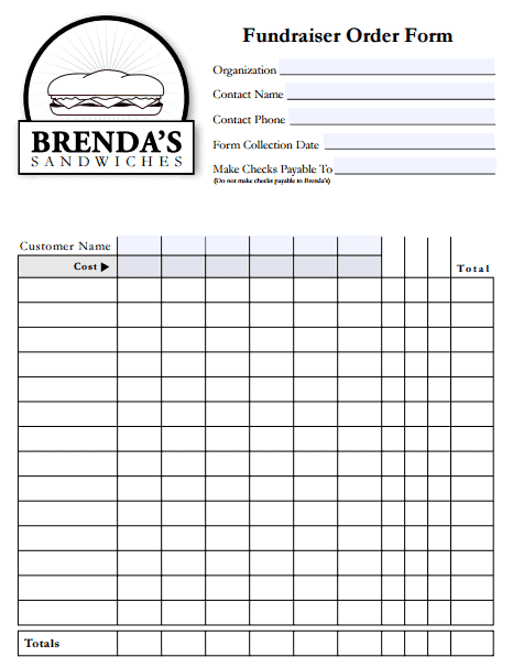 Fundraiser Order Form Template Free Archives Templates Front – Fundraiser Template Free