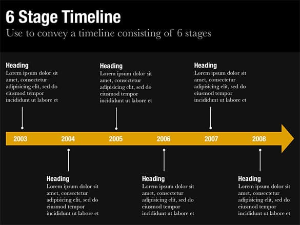 Keynote Timeline Template 52