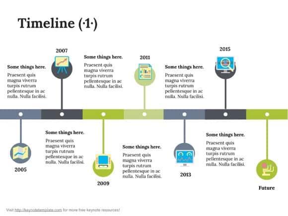 Keynote Timeline Template 82
