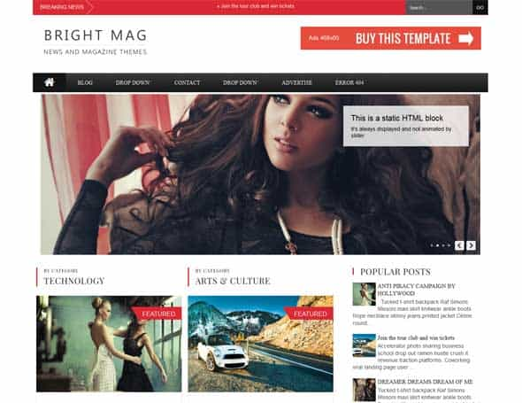 News Mag Blogger Templates 32