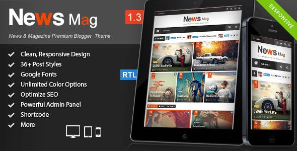 News Mag Blogger Templates 52