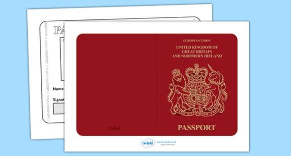 passport template 12
