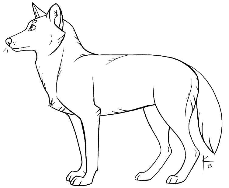 wolf template 22