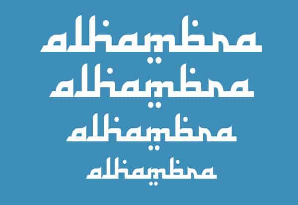 Arabic Calligraphy Fonts 34761