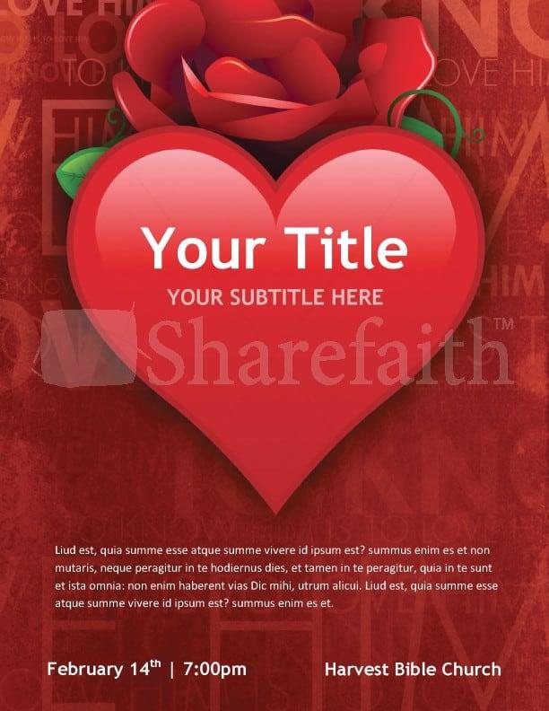Free Valentine's Day Flyer Templates 4