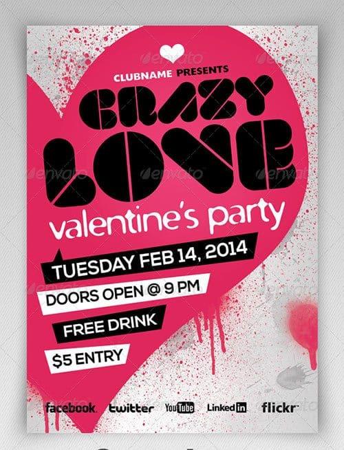 Free Valentine's Day Flyer Templates 941